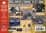 Duke Nukem 64 Box Art Back